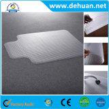 明確な習慣PVC椅子の床のマット、居間の床のマット