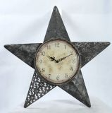 Reloj de pared del metal de la dimensión de una variable de la estrella