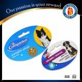 2016 étiquettes de crabot chaudes de carte de papier de jouet de crabot d'animal familier de vente