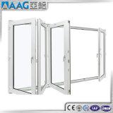 Pliage en aluminium en verre/porte Bifold/porte de Bifolding