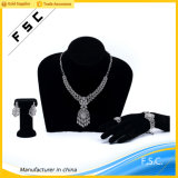 Reeks van de Juwelen van het Huwelijk van de Bloem van het Kristal van het Witgoud van de Luxe van Doubai de Bruids