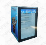 80L Glass Door Counter Top Mini refrigerador refrigerador de tela de mesa
