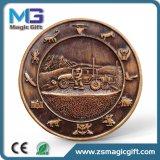 Medaglia antica personalizzata del ricordo del metallo