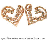 Orecchino d'argento della vite prigioniera dell'orecchio 925 con figura 3A CZ bianca del cuore per le donne (E6708)