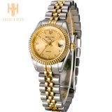 Manera impermeable lujosa del regalo del amor del reloj del acero inoxidable del asunto del deporte de los relojes de señoras del cuarzo del diamante