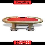 2017 joueurs normaux Ym-Tb021 du tableau 10 de tisonnier de casino d'usine de modèle du Texas Holdem de tisonnier de pieds ovales neufs faits sur commande de disque