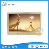 Bâti de photo de bâti d'or de 10 pouces admirablement avec le vidéo de MP3 MP4 HD