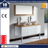 Unità bianca di vanità della stanza da bagno del doppio dispersore della vernice di alta lucentezza