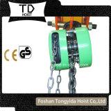 1t Blok van de Ketting van de Hand van het Type van Toyo/Hsz het het Essentiële/Hijstoestel van de Ketting