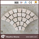Pietra per lastricati di alta qualità del Cobblestone/a forma di ventaglio del granito per la decorazione