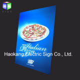 La publicité des signes avec le panneau de menu de cadre d'éclairage LED pour l'étalage d'aliments de préparation rapide de restaurant