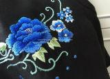 Schwarzes Frauen `S Silk chinesische Art-Kleid