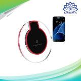 Caricatore senza fili personalizzato del telefono di cristallo del Qi per il bordo di Samsung S6 S7