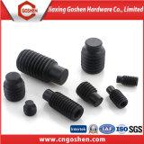 Hex Kontaktbuchse-Einstellschrauben des schwarzen Oxid-DIN417 mit vollem Hundepunkt