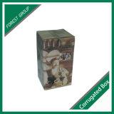 Caixa de embalagem por atacado do vinho do cartão ondulado para o único frasco