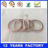 bande de cuivre adhésive de clinquant de silicones latéraux simples de 0.085mm