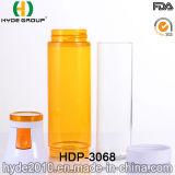 BPA respetuosos del medio ambiente liberan la botella de agua plástica de consumición, botella de agua plástica aislada del deporte (HDP-3068)
