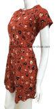 Платье Sweat хлопка для женщин с All-Over печатью