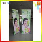 Doubles imprimables latéraux enroulent le drapeau pour la publicité