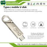 Type-c Type-c 3.1 double PC duel Pendrive de clé de mémoire USB du lecteur flash 32GB d'USB 3.0 de fiche