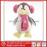 Jouet de peluche de Noël de pingouin bourré avec l'écouteur