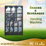 Ovos e máquina de Vending do gabinete da pilha de vegetais
