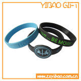 선물 (YB-w-014) 광고를 위한 실리콘 소맷동을 인쇄하는 3/4 인치 로고