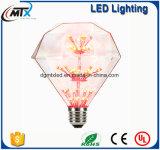 Des LED-Edison dekorative Birne Glühlampe CER-UL-warme weiße kreative Entwurfs-LED 3W