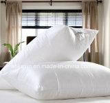 Cuscino bianco di sonno della piuma dell'anatra del cotone di colore