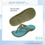 Femme Deux couleurs Flip Flops, EVA Chaussures Chaussons