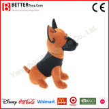 Realista de pelúcia de pelúcia brinquedo de cachorro militar