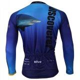 Куртка спортов покрывает акула Джерси длинней втулки людей Breathable быстро сухая задействуя голубая