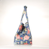 花パターンハンドバッグ(99212)を折る防水大きい容量のキャンバス
