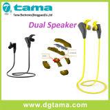 Écouteur sans fil duel de dans-Oreille de Bluetooth de sport des haut-parleurs V4.1+EDR