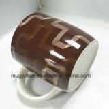 幾何学パターン完全な印刷の陶磁器の石器の骨灰磁器のコーヒーカップ12oz