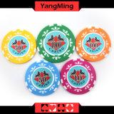 760 Art PCS-Texas Holdem/Lehm-Aufkleber-Schürhaken-Chipset für spielendes Spiel Mgbg001