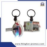 Metal promocional modificado para requisitos particulares manera Keychain Keychain plástico LED Keychain