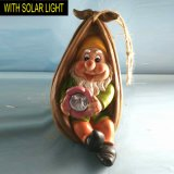 Nano sveglio con la decorazione d'attaccatura di Polyresin di Gnome chiaro solare del giardino
