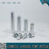 bottiglia senz'aria d'argento cosmetica della lozione di 5ml 10ml 12ml 15ml con la pompa d'argento