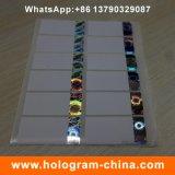 Escritura de la etiqueta de sellado caliente del holograma del cigarrillo