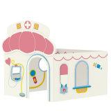Juguete alegre de la casa del juego del juego del hospital del tema de los cabritos