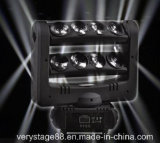 Testa mobile LED del fascio bianco del ragno di alto potere 8*10W