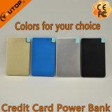 Batería portable Ultra-Delgada 2600mAh de la potencia de la tarjeta del bolsillo de la carpeta