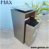 Coffre d'ordures en acier s'arrêtant particulier de descendeur de modèle d'en cuivre commercial de glissière