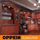 Palácio L armário de madeira de Oppein da cozinha da cereja da forma (OP12-L010)