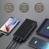 Côté mobile 15000mAh de pouvoir du pouvoir QC3.0 de grande capacité