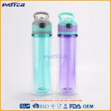 Völlig auf Lagere doppel-wandige Plastikflasche mit Stroh