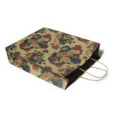 Bolsa de papel de encargo impresa estilo de lujo reciclable de las compras del regalo con insignia