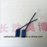 Escovas de carbono de alta tensão J204 do motor da C.C. para vendas