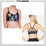 Gymnastique de soutien-gorge de sport de femmes vêtant le soutien-gorge de sport amovible de forme physique de garniture
